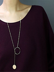 Women's Pendant Necklaces Jewelry Jewelry Copper Dangling Style Pendant Euramerican Fashion Personalized Simple Style Silver Gold Jewelry