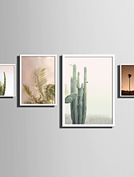 cheap -E-HOME® Framed Canvas Art   Simple Natural Scenery And Plant Series (7) Theme Series Framed Canvas Print One Pcs