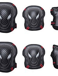 cheap -Adult Knee Pads + Elbow Pads + Wrist Pads for Inline Skates Roller Skates Hoverboard Protective Breathable 6 pack