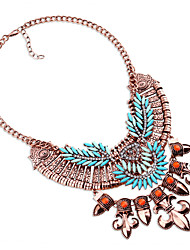 Women's Layered Necklaces Chrome Euramerican Fashion Personalized Statement Jewelry Light Blue Red Jewelry ForWedding Party