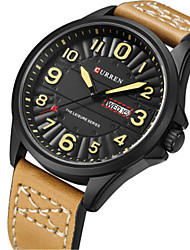 cheap -Men's Fashion Watch Leather Band Khaki