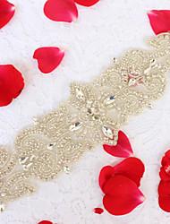 Liga Casamento Festa/Noite Dia a Dia Faixa-Miçangas Pedraria Imitação de Pérola Miçangas Pedraria Imitação de Pérola