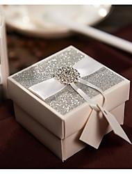 50 Pezzo/Set Porta-bomboniera-Cubi Carta perlata Confezioni regalo Personalizzato