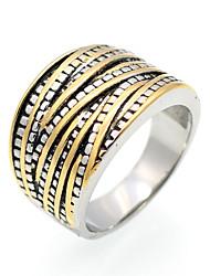 cheap -Men's Women's Ring Personalized Geometric Vintage Euramerican Hip-Hop Fashion Double-layer Rock Punk Titanium Steel Geometric Irregular