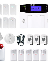 cheap -Danmini  LCD Wirless GSM/PSTN Home House Office Security Burglar Intruder Alarm System Smoke Induction