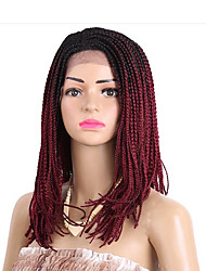 cheap -Women Synthetic Lace Front Wig Medium Length Dark Brown Black/Burgundy Strawberry Blonde/Light Blonde Black Natural Wigs Costume Wig