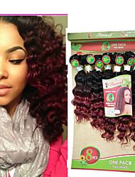 Deep Wave Brazilian Hair Weave Bundles 8pieces/pack Unprocessed Brazilian loose Hair Weave Bundles 8-14inch Human Hair Bundles Remy Hair Weaving
