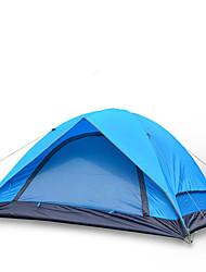 Недорогие -4 человека Световой тент На открытом воздухе Водонепроницаемость, С защитой от ветра, Дожденепроницаемый Двухслойные зонты Палатка для Рыбалка Пешеходный туризм Пляж  Полиэфирная тафта, Оксфорд