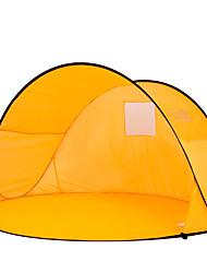 Недорогие -2 человека Световой тент Один экземляр Палатка Однокомнатная Тент для пляжа Компактность Ультрафиолетовая устойчивость для Походы