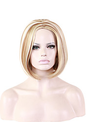 cheap -Women Synthetic Wig Medium Length Curly Golden Blonde Natural Wigs Halloween Wig Carnival Wig Costume Wig