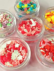 6 caixa / conjunto bolo de barro espectro ame ameixa flor pregos diy wafer acessórios decorativos