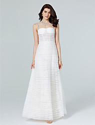 economico -Linea-A Con decorazione gioiello Lungo Di pizzo Tulle Serata formale Vestito con Perline Nappa (e) di TS Couture®
