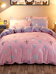 cheap -Duvet Cover Sets 3D 4 Piece Poly/Cotton Reactive Print Poly/Cotton (If Twin size, only 1 Sham or Pillowcase)