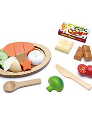 Недорогие -Игрушка кухонные наборы Игрушечная еда Игрушечная еда и всё для кухни Игрушки Круглый Ножи для овощей и фруктов Овощи и фрукты Магнитный