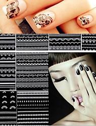30 adesivi dell'autoadesivo di arte del chiodo del merletto di 30 fogli decora gli accessori di chiodo della decorazione del manicure gli