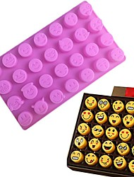 cheap -1Pcs  28 Grid Funny Emoji  Expression Mold Cute Silicone Cake Molds For Cake Chocolates Candy Ice Baking Tools