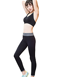 Yoga Sports Bra Tights Breathable Soft Comfortable Stretchy Sports Wear Women'sYoga Exercise & Fitness RunningGray+Green Black/Blue