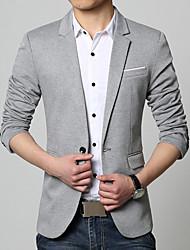 abordables -Blazer Grandes Tailles Homme - Couleur Pleine Coton