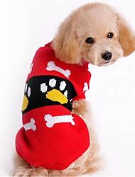 baratos -Cachorro Súeters Roupas para Cães Desenho Animado Vermelho Rosa claro Tecido de Seda Algodão Ocasiões Especiais Para animais de estimação