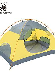 Недорогие -GAZELLE OUTDOORS 2 человека Световой тент Двойная Палатка Однокомнатная Туристические палатки Водонепроницаемость С защитой от ветра
