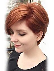 Недорогие -парик&Шелк короткий естественный прямой capless человеческих волос парик для женщин 2017