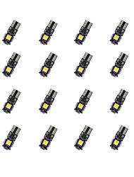 Недорогие -20pcs t10 декорация доски 5 * 5050smd chalkboard вела свет электрической лампочки dc12v электрической лампочки автомобиля