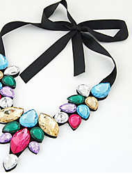 Недорогие -Жен. Свисающие Уникальный дизайн Богемные Euramerican Мода Заявление ожерелья Акрил Шелк Заявление ожерелья , Новогодние подарки Для