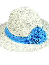 Summer Straw Hat Folding Beach Large Brimmed Hat Sun Cap Wide Brim Women Flower Foldable