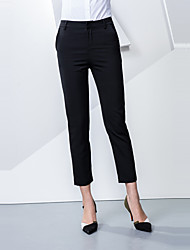 Women's Mid Rise strenchy Business Pants,Simple Straight Solid