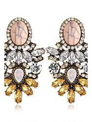 Mulheres Brincos Compridos Moda bijuterias Turquesa Liga Forma Geométrica Jóias Para