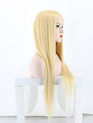 Blonde Color Brazilian Virgin Hair Glueless Lace Wigs Straight Full Lace Human Hair Wigs 613 Color Virgin Hair Wig with Baby Hair