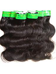 Недорогие -Натуральные волосы Пряди натуральных волос Реми Естественные кудри Индийские волосы 500 g 6 месяца