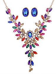 cheap -Women's Jewelry Set Bridal Jewelry Sets Necklace/Earrings Crystal Rhinestone Synthetic Gemstones Crystal Resin Rhinestone Zinc Alloy