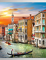 cheap -Giclee Print Landscape Modern Mediterranean,One Panel Canvas Square Print Wall Decor For Home Decoration