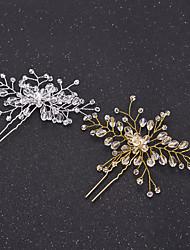 cheap -Crystal Hair Pin Hair Stick Hair Tool 1 Wedding Special Occasion Headpiece