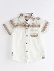 billige -Pige Skjorte Daglig Bomuld Sommer Kortærmet Hvid