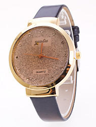 Women's Fashion Watch Chinese Quartz Starry PU Band Charm Elegant Black White Red Brown Purple