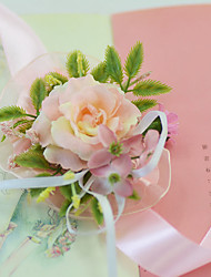 """cheap -Wedding Flowers Wrist Corsages Wedding Party / Evening Engagement Party Party/Cocktail Tulle Satin 1.18""""(Approx.3cm)"""