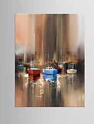 cheap -Giclee Print Abstract Modern Mediterranean,One Panel Canvas Vertical Oil Painting Wall Decor For Home Decoration