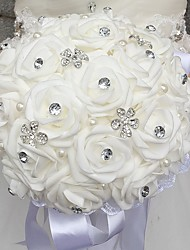 "cheap -Wedding Flowers Bouquets Wedding Bead Rhinestone Foam 11.8""(Approx.30cm) 11.02""(Approx.28cm)"