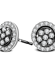 cheap -Silver Plated Earring Stud Earrings Wedding / Party / Daily / Casual 2pcs