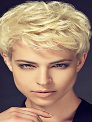 cheap -DIY  Comfortable  Short Curly Hair   Human Hair Wig  Suitable For All Kinds Of People