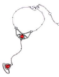 abordables -Mujer Brazaletes Anillo - Amigos Moda Pulseras y Brazaletes Rojo Para Aniversario / Regalo / Enamorado