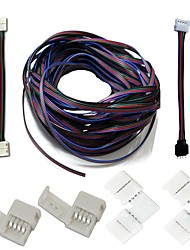 economico -Un set-led strips connettori complete kit di striscia di strip jumper connettore d'angolo a forma di rgb cavo di estensione stripless