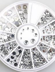 4size 3d décorations d'art ongles acrylique diamant formes strass aux ongles accessoires d'art