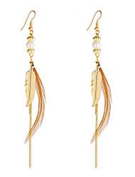 cheap -Women's Drop Earrings - Unique Design Dangling Style Sexy Heart Movie Jewelry Gothic Khaki Geometric Wings / Feather Earrings For Wedding
