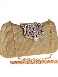 Women Bags All Seasons Glitter Clutch Crystal/ Rhinestone for Wedding Event/Party Formal Champagne Gold Black Silver Red
