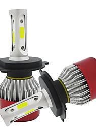 Недорогие -H4 Автомобиль Лампы COB Светодиодная лампа Налобный фонарь / Противотуманные фары