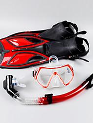 baratos -Kit para Snorkeling / Pacotes de Mergulho - Máscara de mergulho, Nadadeiras de Mergulho, Snorkel - Snorkel Seco, Pala Longa Mergulho, Snorkeling Eco PC, Mistura de Material  Para