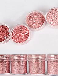 10ml de flash alto diamante pó brilhante em pó lantejoulas em pó misturado série nail art decoração para unha polonês